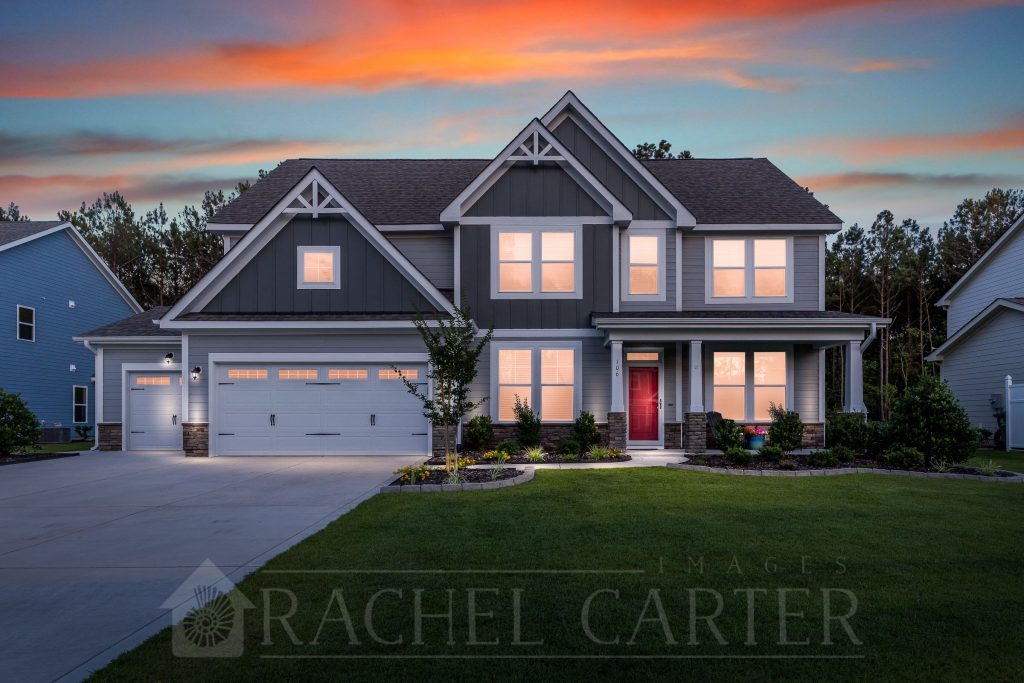 real estate photography - Rachel Carter Images - twilight in sneads ferry, nc