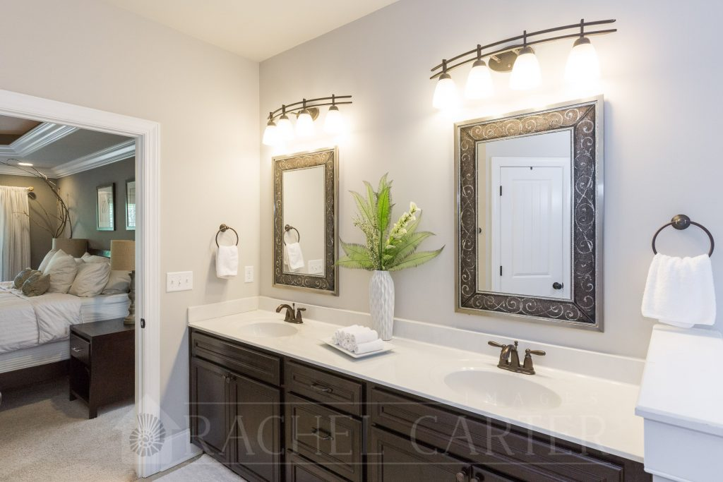 Staged Master Bathroom - Real Estate Photography - Rachel Carter Images - Sneads Ferry, NC