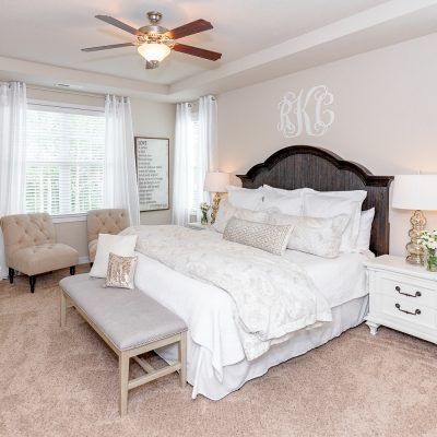 Staged Master Bedroom - Rachel Carter Images - real estate photography, holly ridge, north carolina