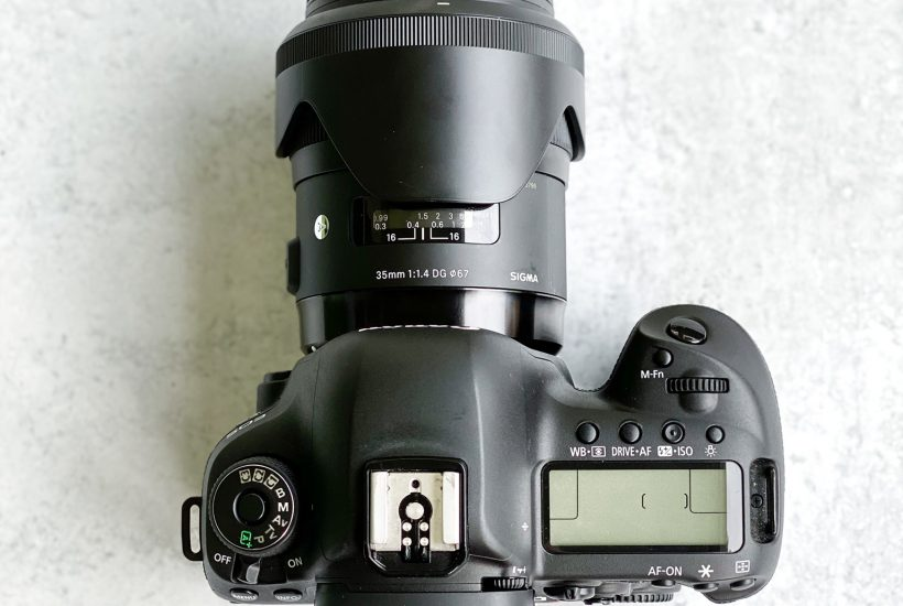 Canon Digital Camera with Sigma 35mm lens