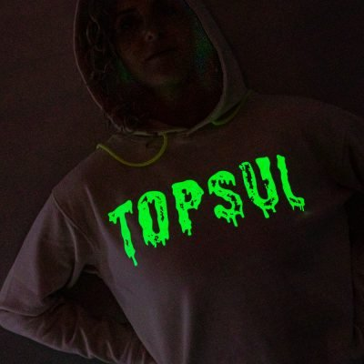 how to photograph a glow in the dark shirt
