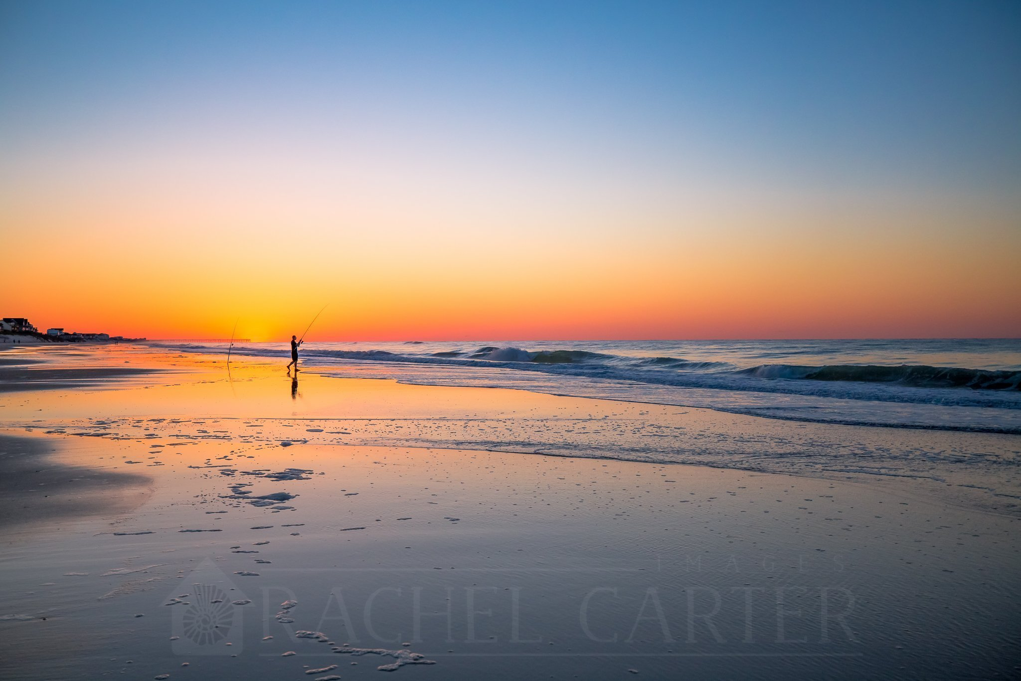 Sunrise on North Topsail Beach, taken with my Canon EF 16-35mm Lens - Sunrise Photo Tips by Rachel Carter Images