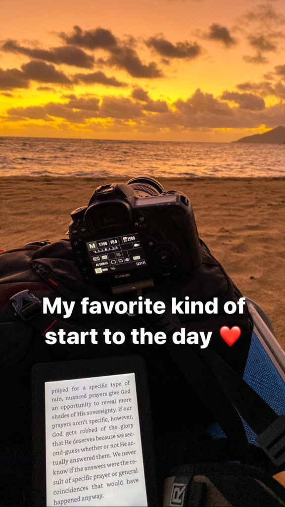 Sunrise with canon DSLR camera and reading in St kitts - Rachel Carter Images - See more Sunrise Photo Tips by Rachel Carter Images