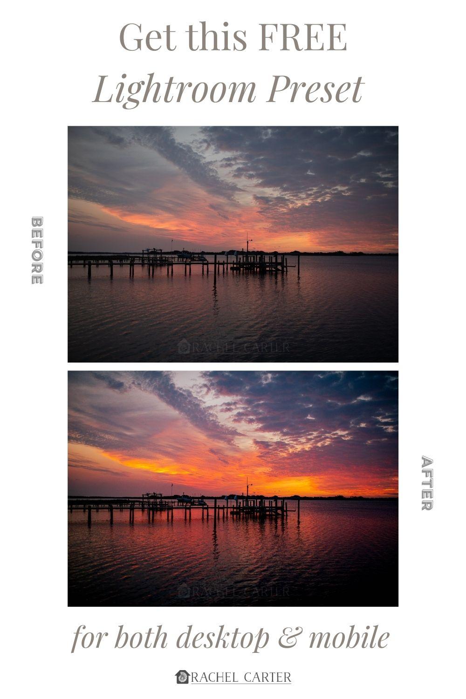 Download this Free Dramatic Sky Sunset Lightroom Preset - Rachel Carter Images
