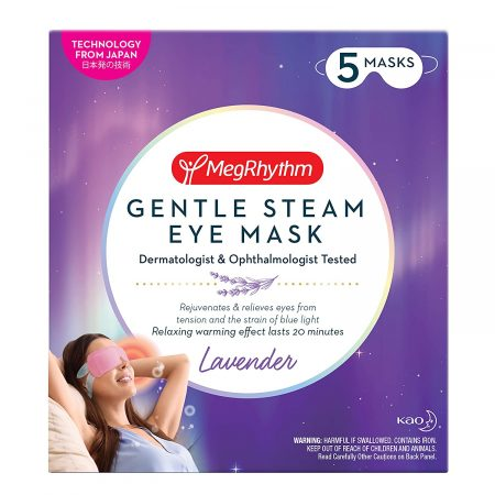 MegRhythm Gentle Steam Eye Mask - Lavender - Soothing for Tired Eyes